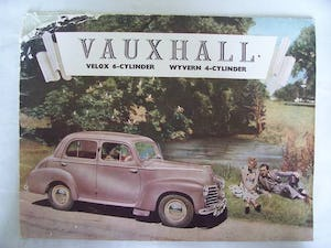 VAUXHALL VELOX-6 & WYVERN-4 SALES BROCHURE 1950 For Sale (picture 1 of 6)