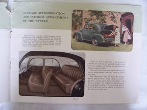VAUXHALL VELOX-6 & WYVERN-4 SALES BROCHURE 1950 For Sale (picture 5 of 6)