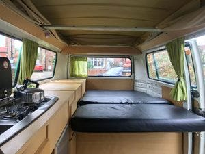 1976 Green VW Camper with Refurbished Engine For Sale (picture 3 of 6)