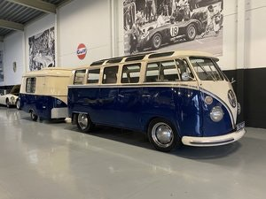 Picture of VOLKSWAGEN T1 Samba (1966) and Hymer Eriba Puck Trailer 1961 For Sale