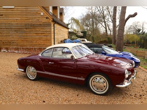 1967 VW Karmann Ghia. Right Hand Drive. Stunning in Burgundy For Sale (picture 2 of 12)