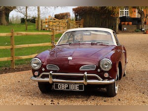 1967 VW Karmann Ghia. Right Hand Drive. Stunning in Burgundy For Sale (picture 4 of 12)