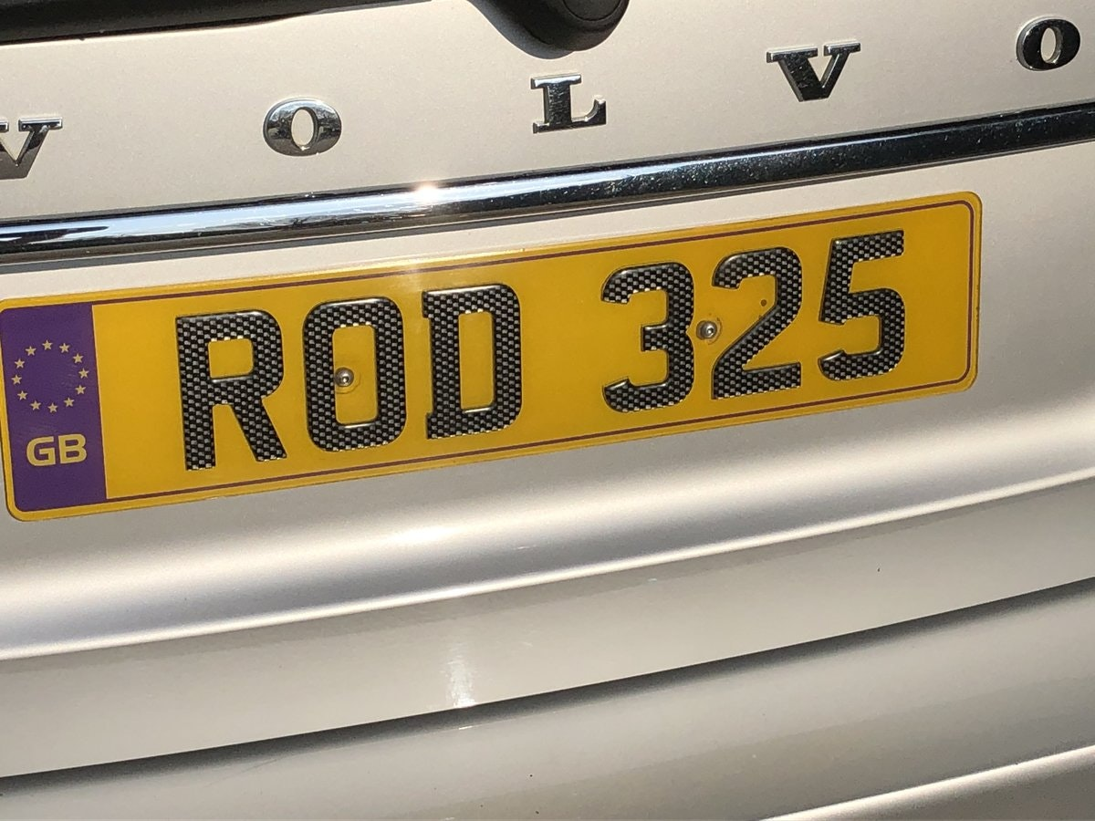 2014 Cherished Registration Number ROD 325 For Sale (picture 1 of 1)