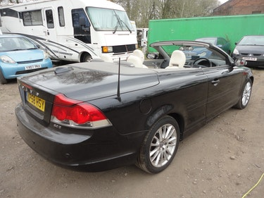 Picture of 2008 VERY SMART VOLVO CONVERTIBLE IN BLACK WITH LEATHER DIESEL For Sale