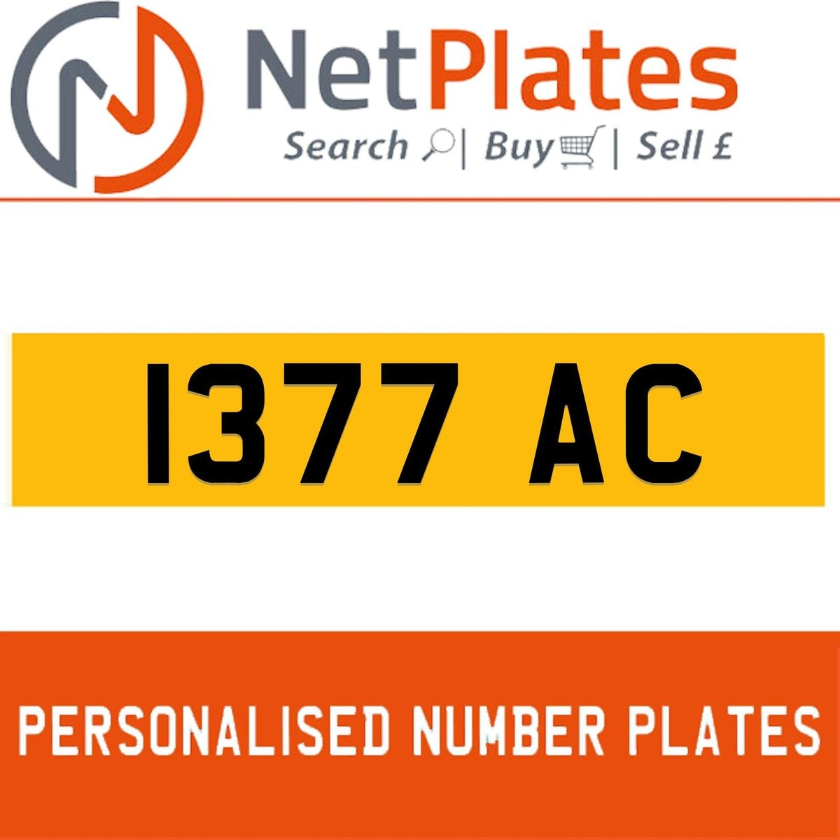 1377 JAC PERSONALISED PRIVATE CHERISHED DVLA NUMBER PLATE For Sale (picture 1 of 5)