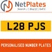 L28 PJS PERSONALISED PRIVATE CHERISHED DVLA NUMBER PLATE