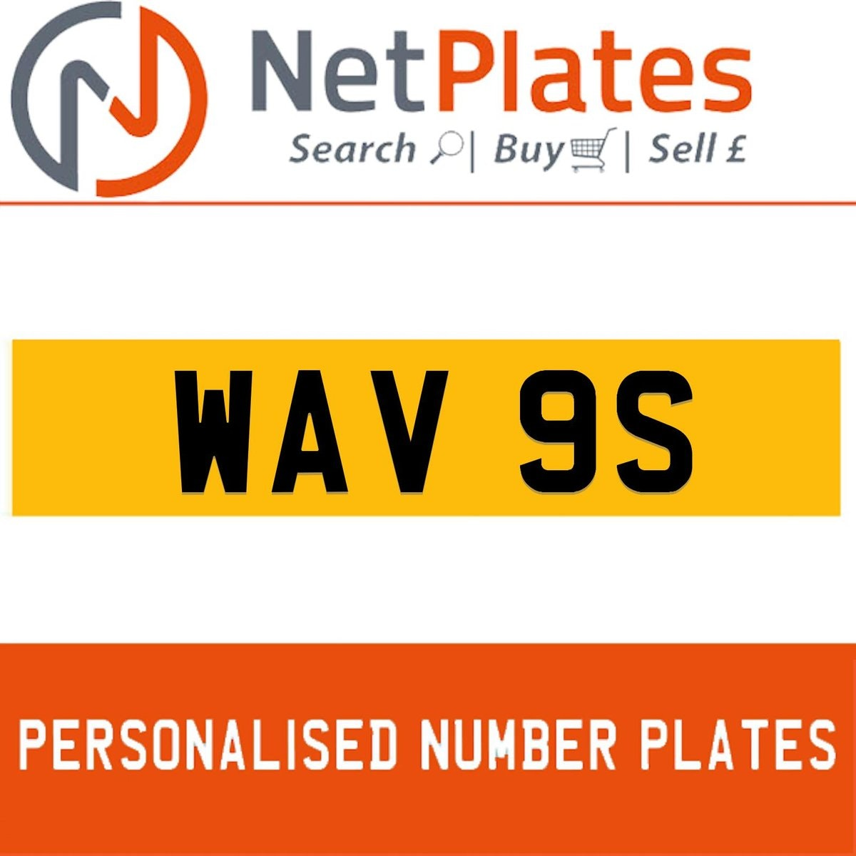 WAV 9S PERSONALISED PRIVATE CHERISHED DVLA NUMBER PLATE For Sale (picture 1 of 5)