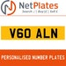 V60 ALN PERSONALISED PRIVATE CHERISHED DVLA NUMBER PLATE