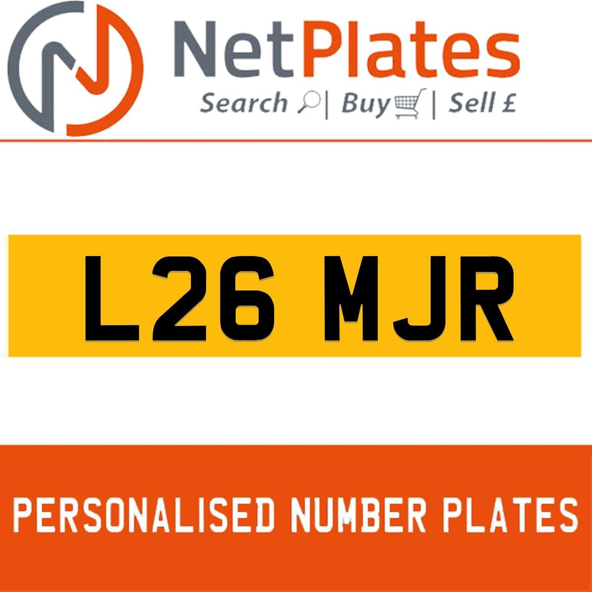L26 MJR PERSONALISED PRIVATE CHERISHED DVLA NUMBER PLATE For Sale (picture 1 of 5)