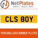 CLS 80Y PERSONALISED PRIVATE CHERISHED DVLA NUMBER PLATE