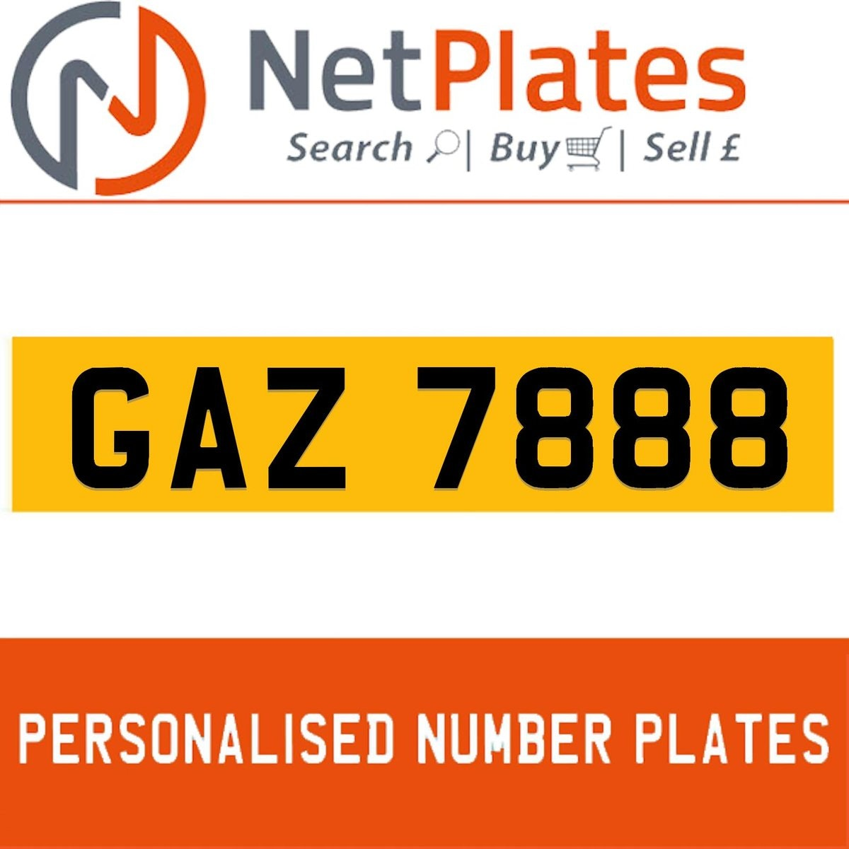 GAZ 7888 PERSONALISED PRIVATE CHERISHED DVLA NUMBER PLATE For Sale (picture 1 of 5)