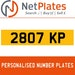2807 KP PERSONALISED PRIVATE CHERISHED DVLA NUMBER PLATE