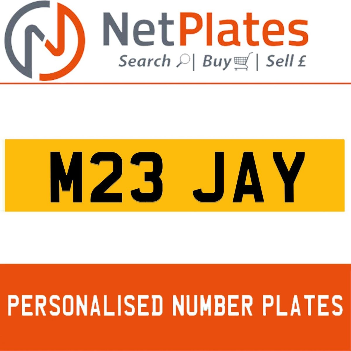 M23 JAY PERSONALISED PRIVATE CHERISHED DVLA NUMBER PLATE For Sale (picture 1 of 5)