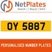 OY 5887 PERSONALISED PRIVATE CHERISHED DVLA NUMBER PLATE