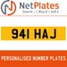 941 HAL PERSONALISED PRIVATE CHERISHED DVLA NUMBER PLATE