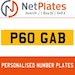 P6 GAB PERSONALISED PRIVATE CHERISHED DVLA NUMBER PLATE