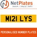 M121 LYS PERSONALISED PRIVATE CHERISHED DVLA NUMBER PLATE