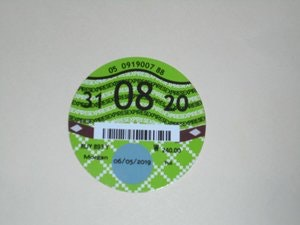 Picture of Road Tax Disc 2020. SOLD