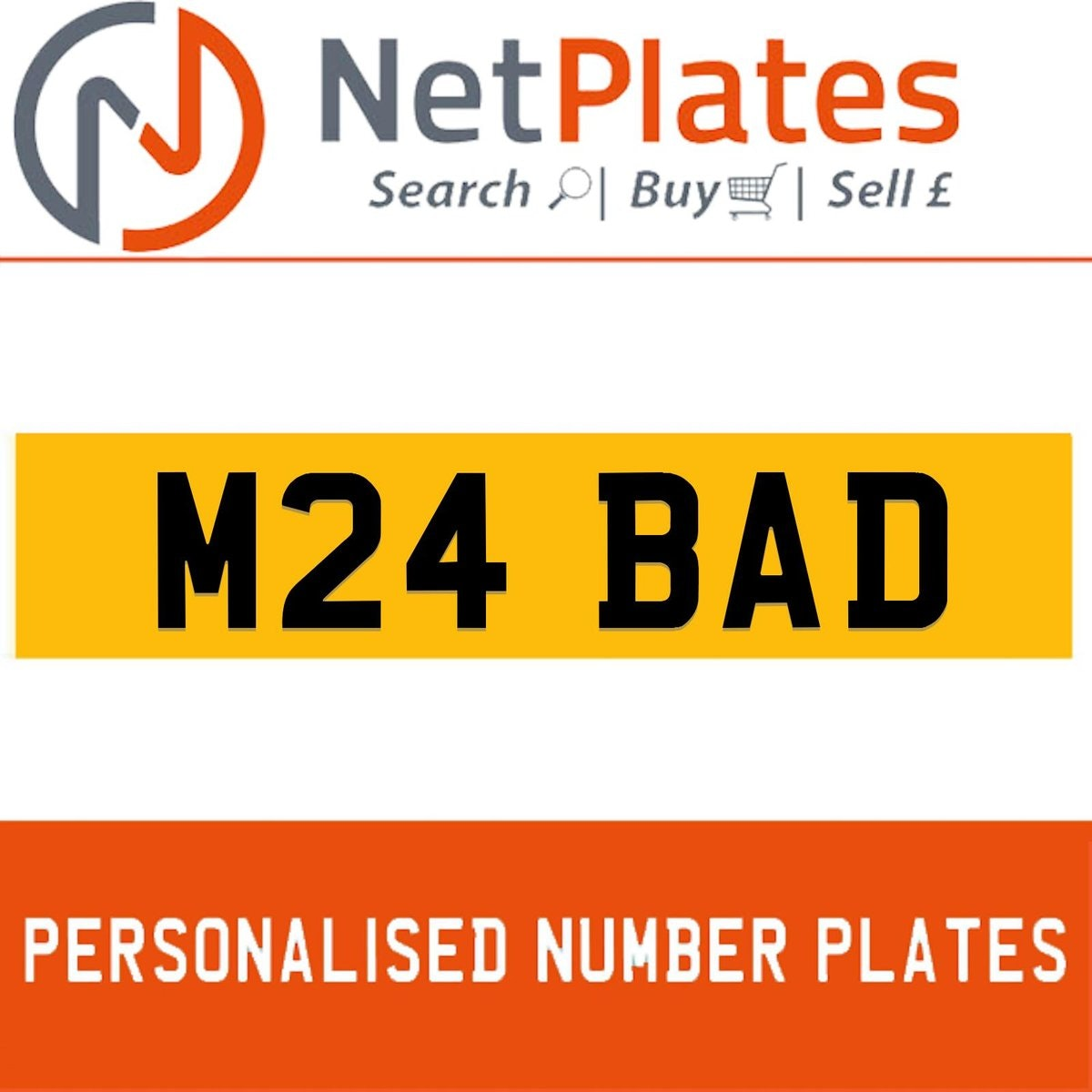 1994 M24 BAD PERSONALISED PRIVATE CHERISHED DVLA NUMBER PLATE For Sale (picture 1 of 5)