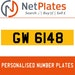 GW 6148 Private Number Plate from NetPlates Ltd