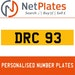 DRC 93 Private Number Plate from NetPlates Ltd