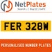 FER 328W Private Number Plate from NetPlates Ltd