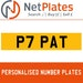 P7 PAT Private Number Plate from NetPlates Ltd