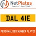 DAL 41E Private Number Plate from NetPlates Ltd
