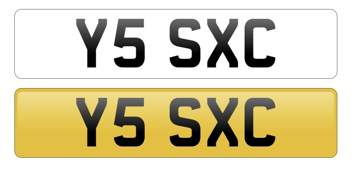 2001 Y5 SXC Cherished reg, Ideal 'YES SEXY' private plate For Sale (picture 2 of 2)