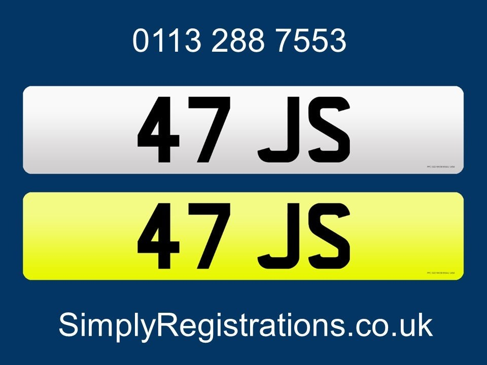2020 47 JS - Private number plate For Sale (picture 1 of 1)