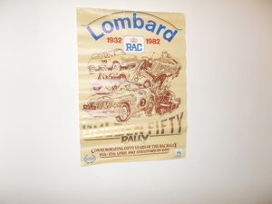 Picture of VINTAGE LOMBARD RALLY POSTER ORIGINAL 1982 STRATFORD ON AVON For Sale