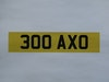 Registration Number 300 AXO at ACA 27th and 28th February