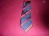 Picture of 1980 Navy Blue Red Stripe Tie. For Sale